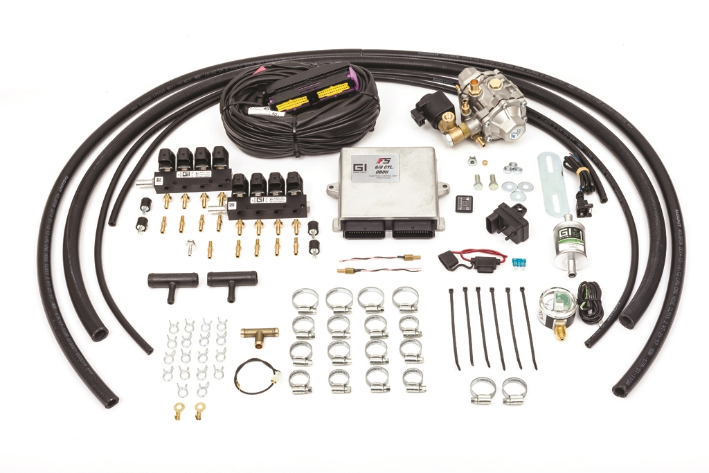 GASITALY SEQUENTIAL CNG KIT F5 OBDII 8 CYL